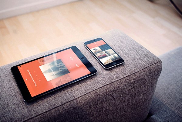 FREE iPad + iPhone Photorealistic PSD Mockup