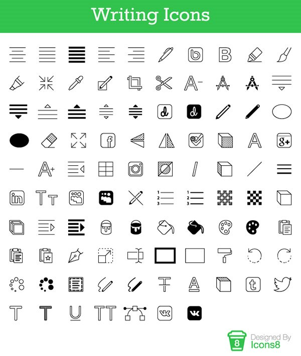Free Writing Icons