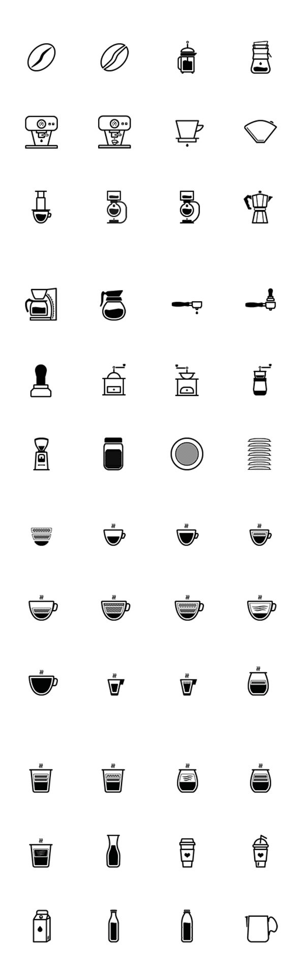 Barista And Coffee Lovers Icon Set