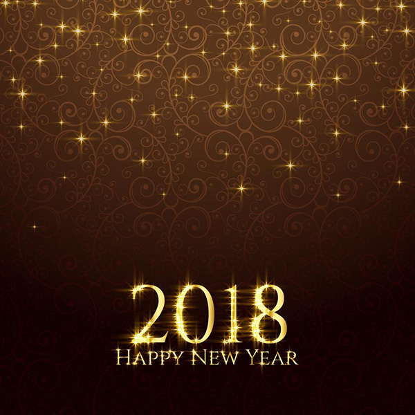 Shiny Glitter Sparkles New Year Background - Free Vector