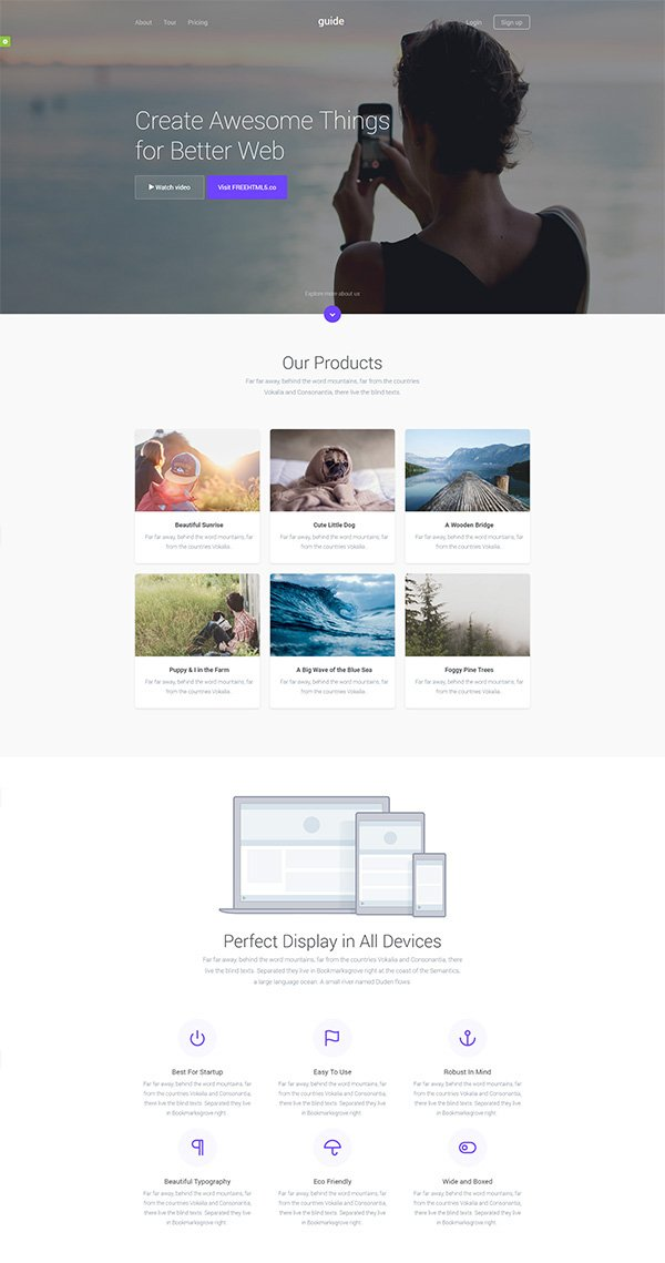 Guide – Free HTML Template