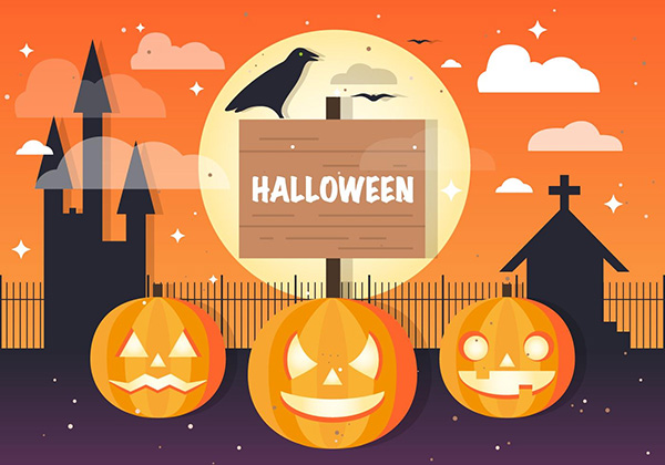 Free Halloween Jackolantern Vector Background