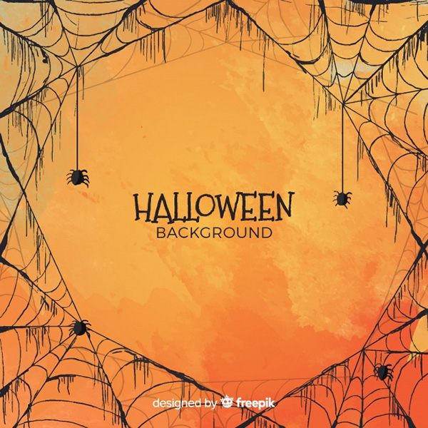 Halloween Background in Watercolor Style - Free Vector