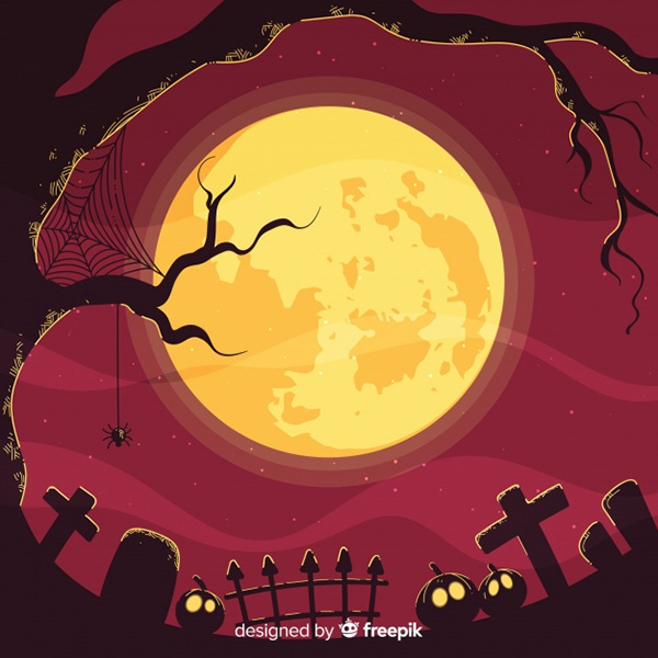 Spooky Halloween Background Free Vector