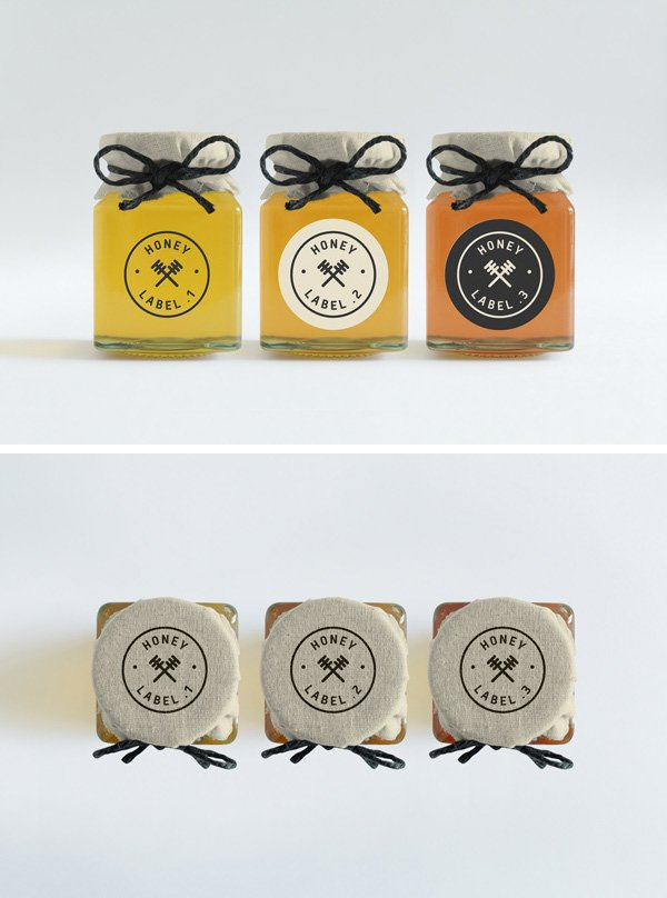 Honey Jars PSD