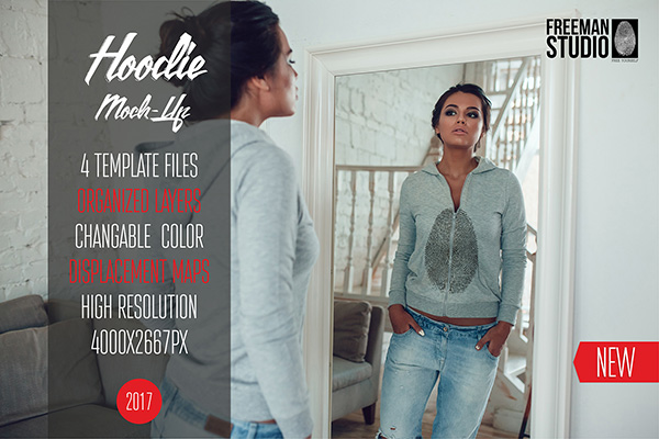 Women Hoodie Mock-Up - 4 Templates