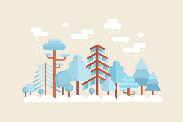 Create a Flat Winter Scene in Adobe Illustrator