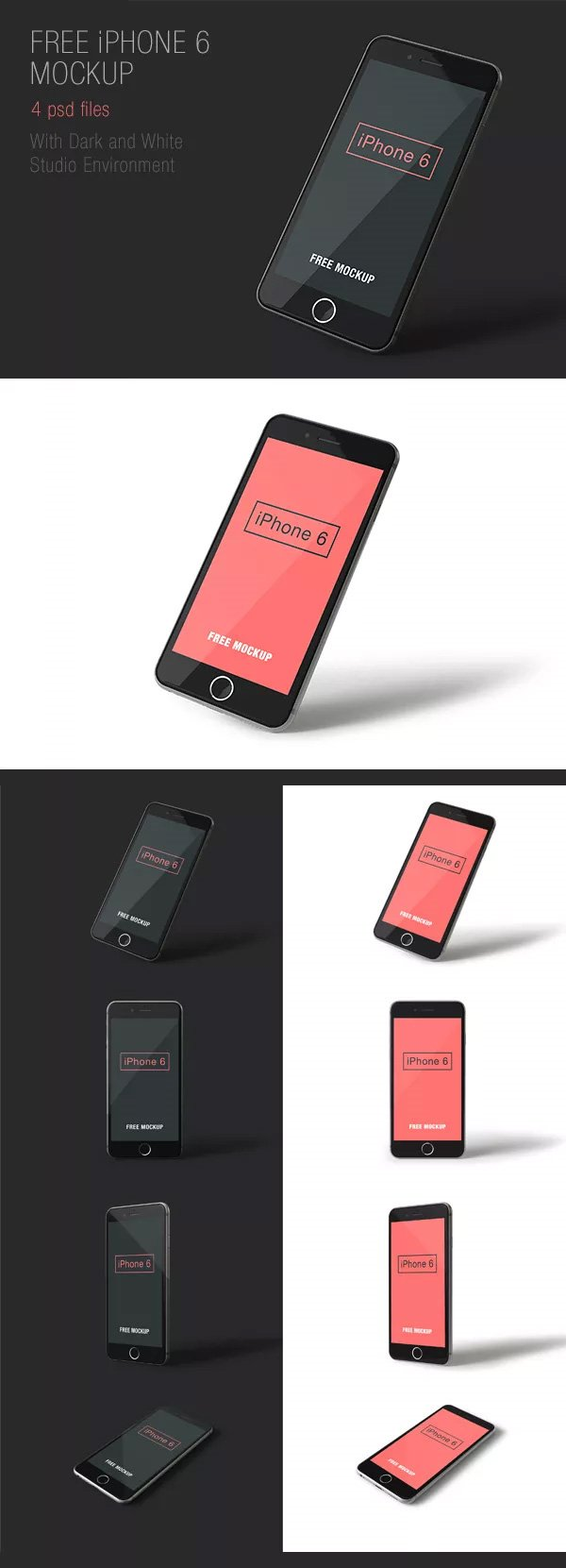 iPhone 6 PSD Mockups