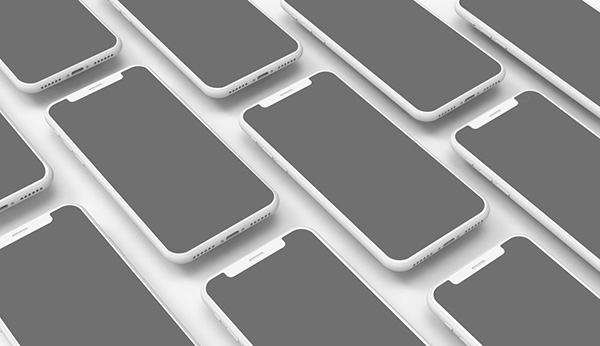 5k Isometric Floating iPhones Mockup