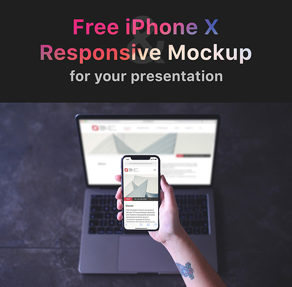 Girl Holding iPhone X Mockup