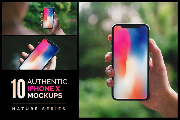 10 Authentic iPhone X Mockups