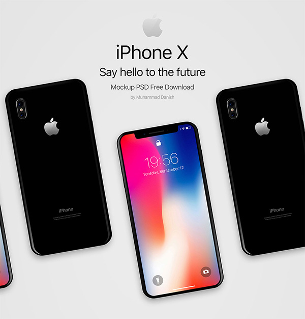 Black iPhone X Free Mockup
