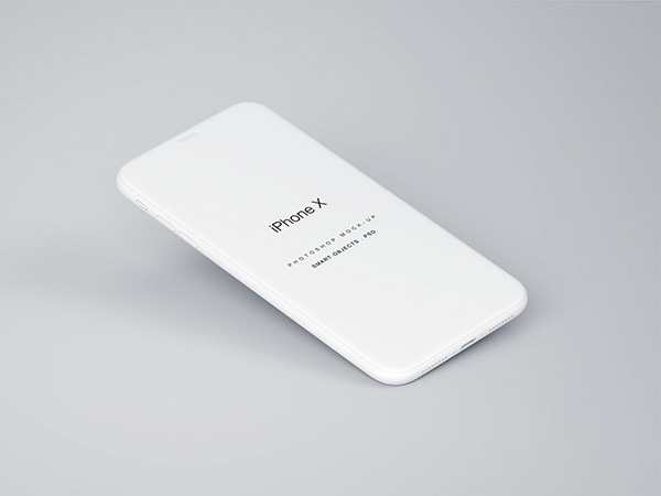 Perspective iPhone X Free Mockup