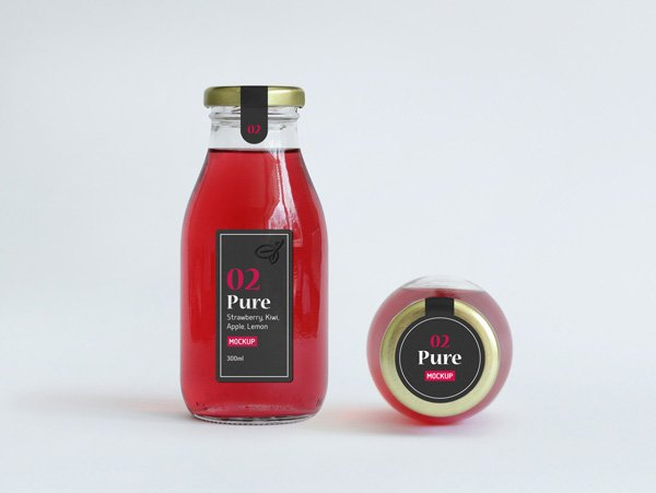 Juice Bottle Packaging MockUp