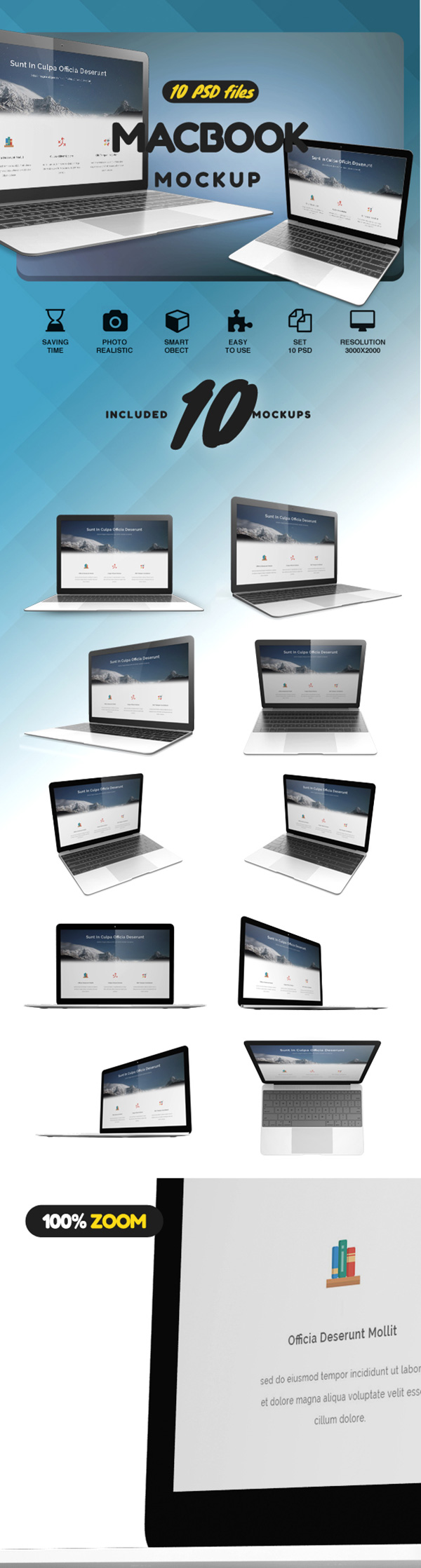 10 Simple Macbook Mockups