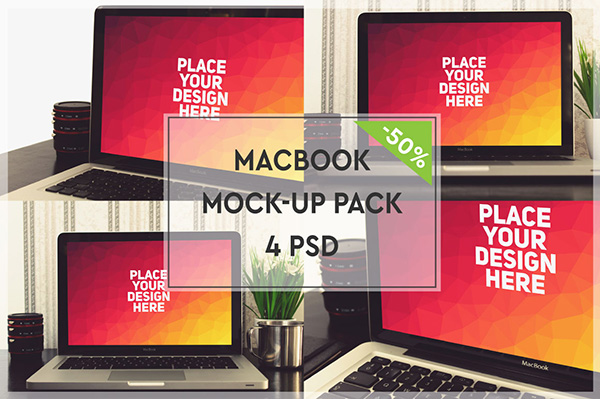 MacBook Mock-up Pack