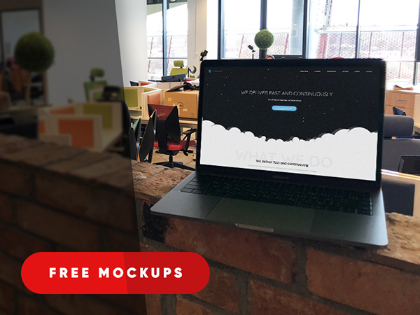 MacBook Mockups in Office