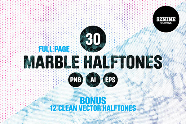 Marble Halftone Textures
