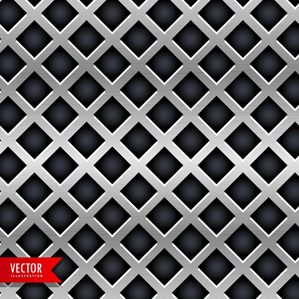 Metal Texture In Diamond Shape Background - Free Vector