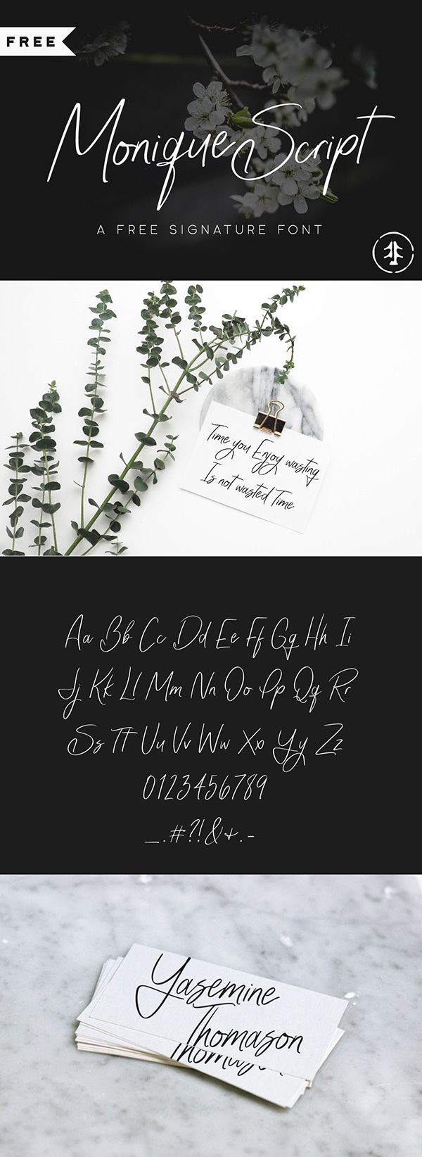 Monique - Free Wedding Font