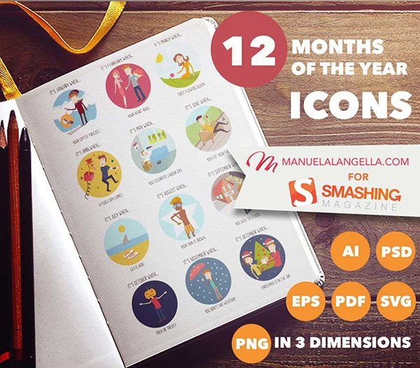 The Months Of The Year Icon Set