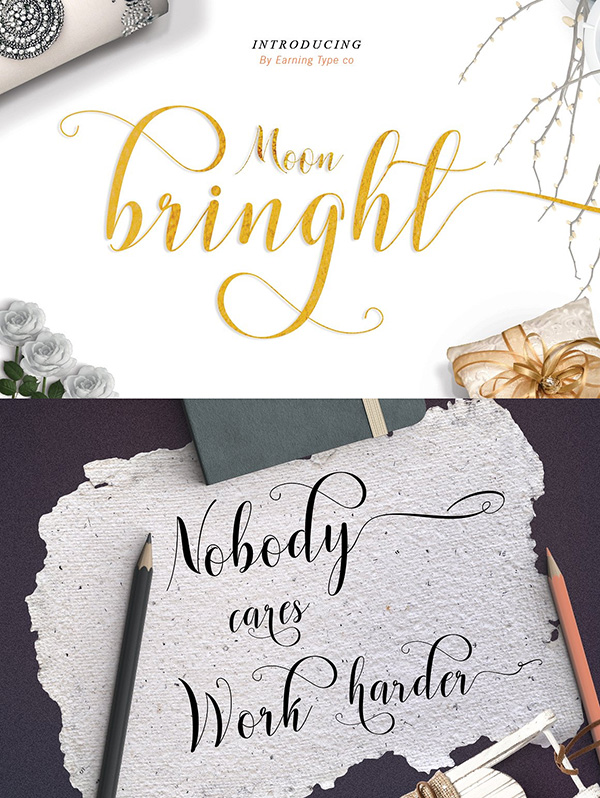 Moonbringht - Free Wedding Calligraphy Font