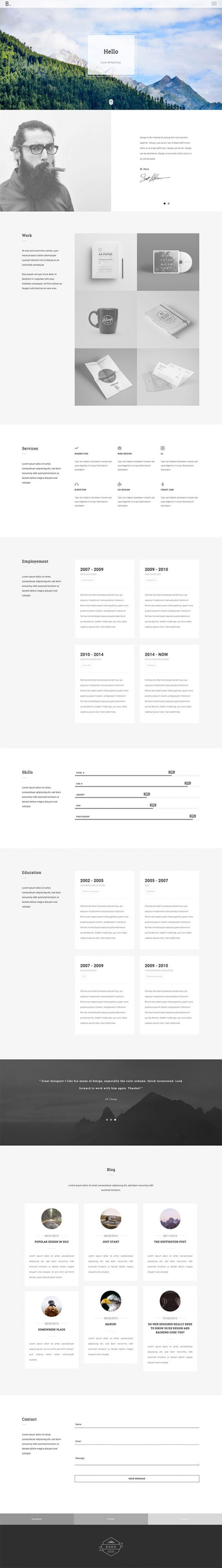 Resume Template Free Online%0A html portfolio template