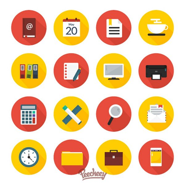 Office Work Icons Set