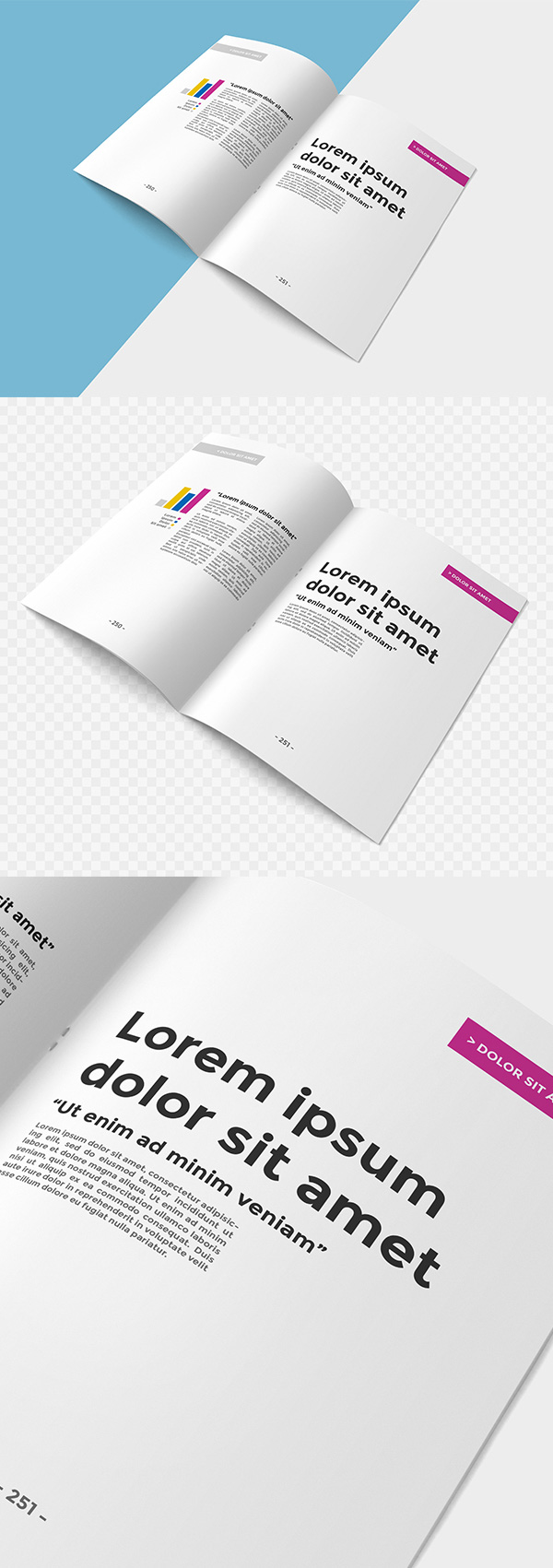 75 free psd magazine book cover brochure mock ups