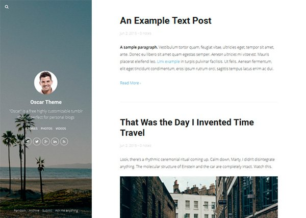 21+ Excellent Free Tumblr Themes