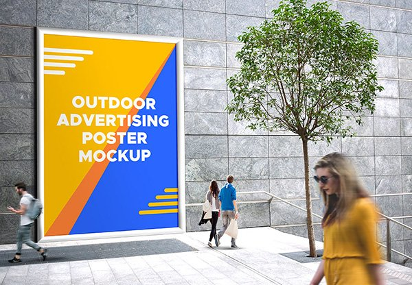 Outdoor Advertising Poster