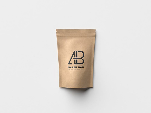 Free Paper Bag Packaging Mockup