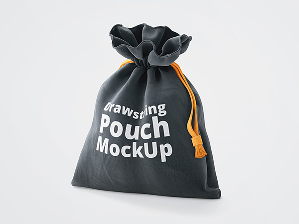 3D Drawstring Pouch Free Mockup