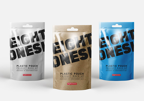 Free Realistic Plastic Pouch Mock-Up