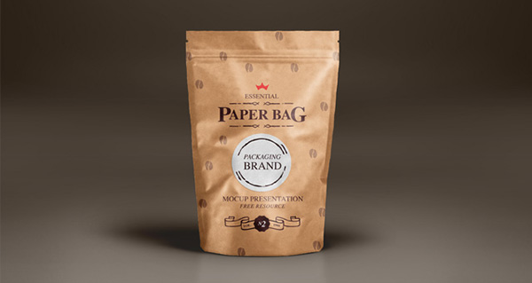 Free Paper Bag Mock-Up Template Vol2