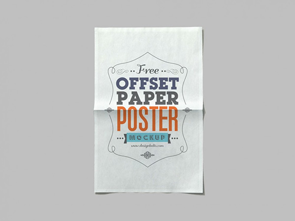 Free Offset Paper Mockup PSD