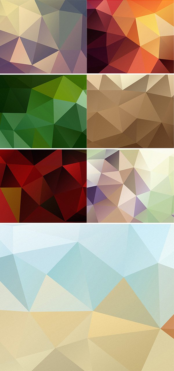 7 HD Polygon Backgrounds