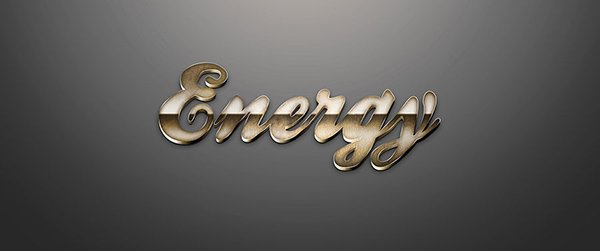 Energy – Learn How To Make A Copper Metal 3D Text In Photoshop