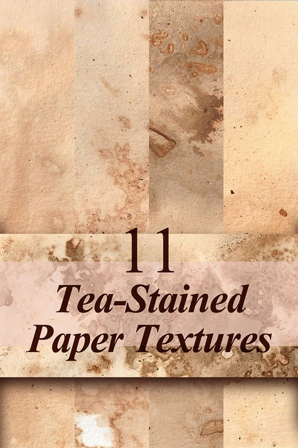 11 Free Tea-Stained Paper Textures