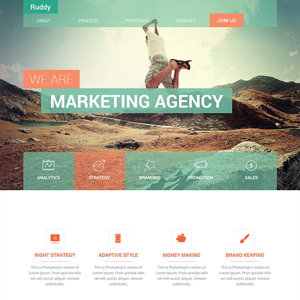 Ruddy Corporate Flat Bootstrap Template