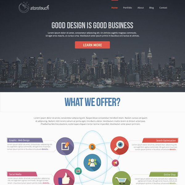 StarsTouch Website Template