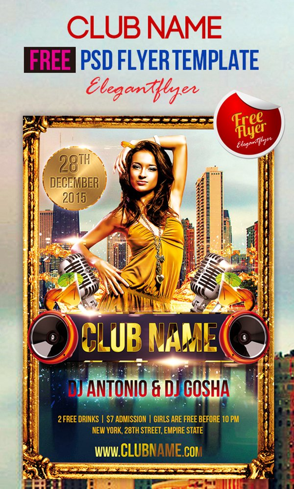 Club Name – Free Club and Party Flyer