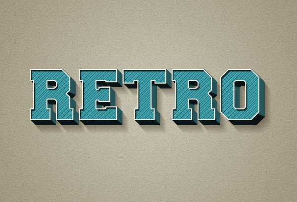 3D Retro Text Effect Using Layer Styles in Adobe Photoshop
