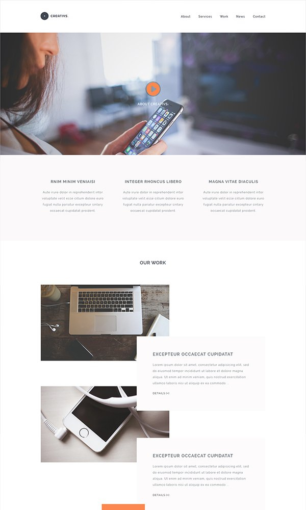 Creativs – Free Complete PSD & HTML5 Website Template