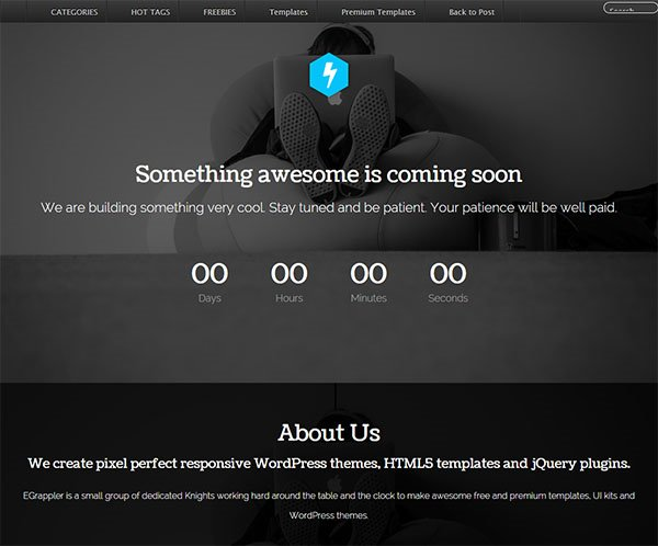 Coming Soon / Under Construction Responsive Template – See Soon