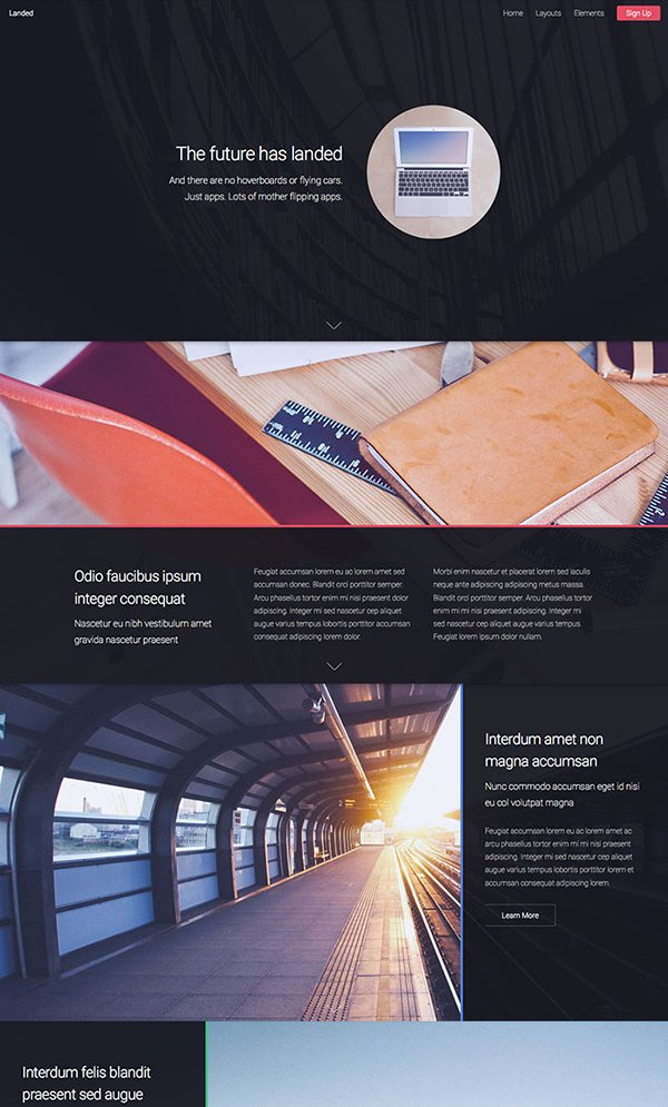 Landed One Page Website Template