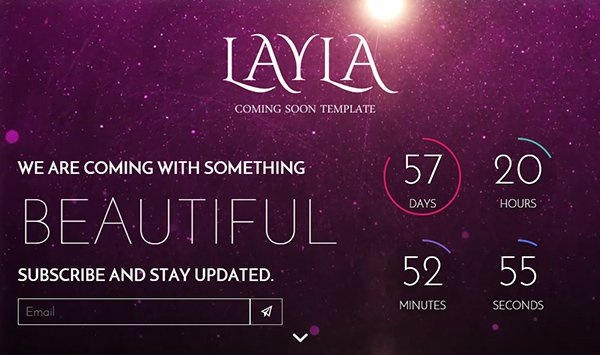 Layla - Free Responsive Coming Soon Under Construction Template