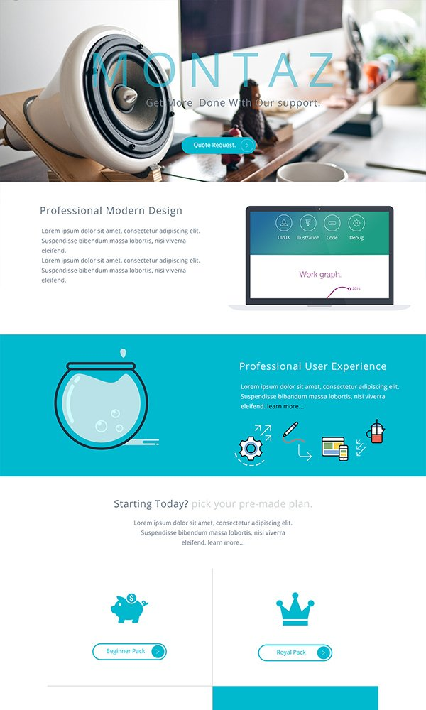 Montaz - One Page Web Template