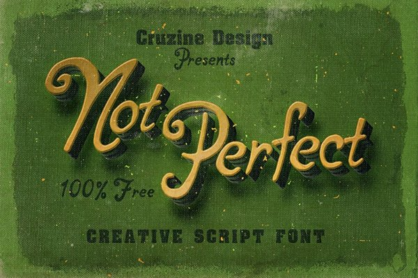 Not Perfect – Free Font