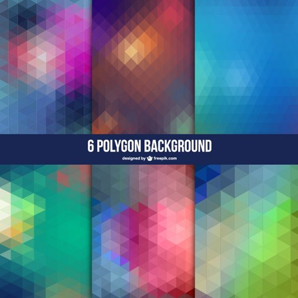 6 Polygon Abstract Background